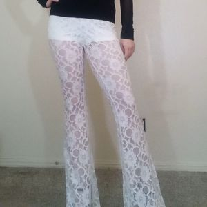 Flared lace pants